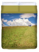 People On The Hill Painterly Duvet Cover