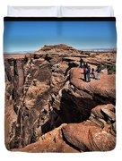People View Horseshoe Bend Rock Edge  Duvet Cover