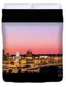 Peoria Downtown Duvet Cover