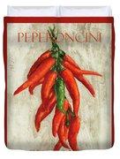 Peperoncini Piccanti Duvet Cover