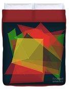 Pepper Polygon Pattern Duvet Cover