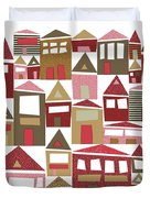 Peppermint Village Duvet Cover