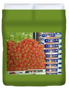 Peppers And Clementines Duvet Cover