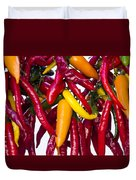 Peppers - Farmers Market - Madison - Wisconsin Duvet Cover