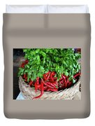 Peppers In A Basket Duvet Cover