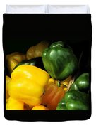 Peppers Yellow And Green Duvet Cover