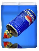Pepsi Can Hot Air Balloon At Solberg Airport Reddinton  New Jersey Duvet Cover