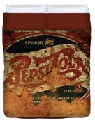 Pepsi Cola Vintage Sign 5b Duvet Cover