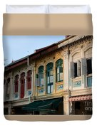 Peranakan Architecture Design Houses And Windows Joo Chiat Singapore Duvet Cover