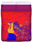 Perch Red Yellow Blue Duvet Cover