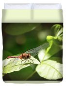 Perched Dragonfly Duvet Cover