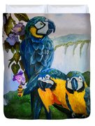 Perched In Paradise Duvet Cover