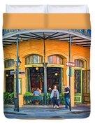 Pere Antoine Restaurant - Paint Duvet Cover