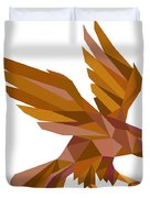 Peregrine Falcon Swooping Low Polygon Duvet Cover