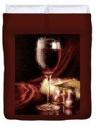 A Perfect Glass Of Wine Duvet Cover