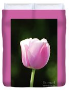 Perfect Pastel Pink Flowering Tulip Blossom In Spring Duvet Cover