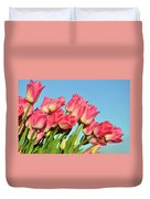 Perfect Pink Tullips Duvet Cover