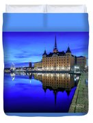 Perfect Riddarholmen Blue Hour Reflection Duvet Cover