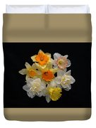 Perfect Ring Of Daffodils Duvet Cover