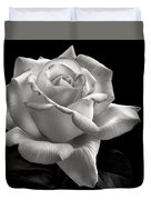 Perfect Rose In Black And White Duvet Cover