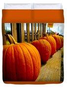 Perfect Row Of Pumpkins Duvet Cover
