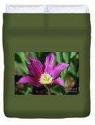 Perfect Single Dark Pink Tulip Flower Blossom Blooming Duvet Cover