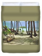 Perfect Tropical Paradise Islands With Turquoise Water And White Sand Duvet Cover