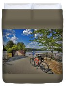 Perfect Weather For Cycling At Lake Brandt Duvet Cover