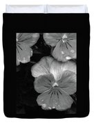 Perfectly Pansy 12 - Bw - Water Paper Duvet Cover