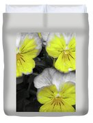 Perfectly Pansy 13 - Bw - Yellow Duvet Cover