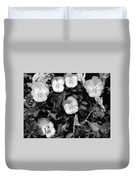 Perfectly Pansy 18 - Bw - Water Paper Duvet Cover