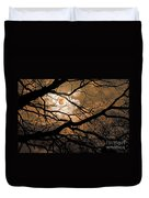 Perigee Moon In The Trees Duvet Cover