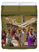 Period Performers At Ephesis Turkey Duvet Cover