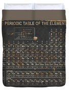 Periodic Table Grunge Style Duvet Cover