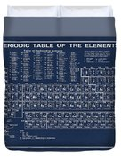 Periodic Table Of Elements In Blue Duvet Cover