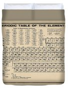 Periodic Table Of Elements In Sepia Duvet Cover