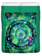 Universe Inside Of Electrons. Periodic Table Of The Elements Duvet Cover