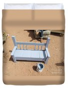 Periwinkle Bench Duvet Cover