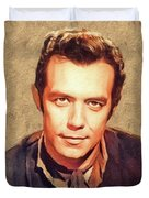 Pernell Roberts, Vintage Actor Duvet Cover