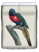 Perruche A Tete Bleue, Male / Rainbow Lorikeet, Male - Restored 19th Cent. Illustration By Barraband Duvet Cover