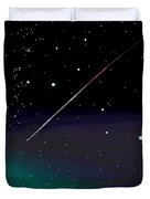 Perseid Meteor Shower  Duvet Cover by Jean Pacheco Ravinski