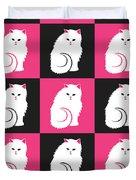 Persian Cat Pattern Duvet Cover