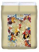 Persian Polo Game Duvet Cover