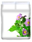 Persian Violets Duvet Cover