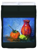 Persimmon And Fijoa Duvet Cover