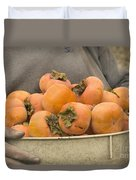 Persimmons In A Bucket Duvet Cover
