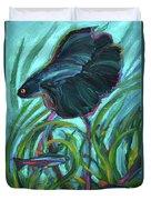Persistent Fish Betta  Duvet Cover