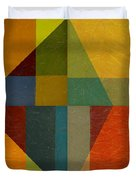 Perspective In Color Collage Duvet Cover by Michelle Calkins