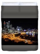 Perth By Night Duvet Cover