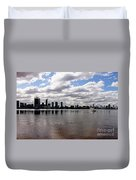 Perth City From South Perth Foreshore  Duvet Cover